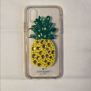 Kate Spade Pineapple iPhone X case